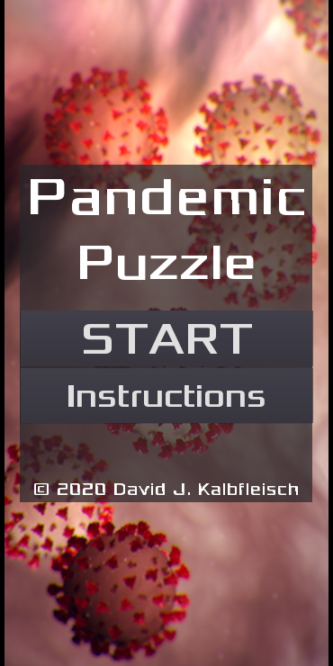 Pandemic Puzzle title screen